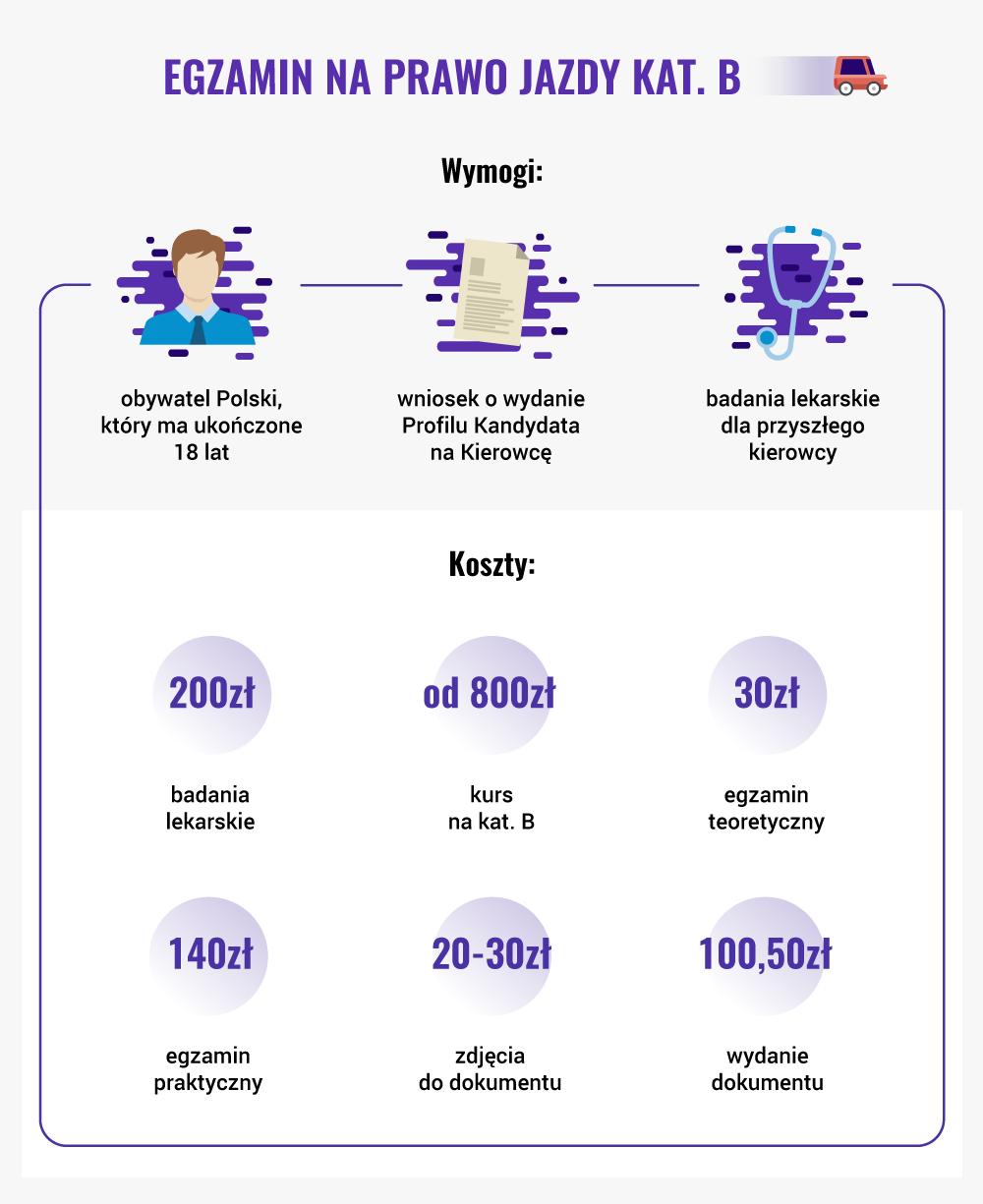 Infografika prawo jazdy