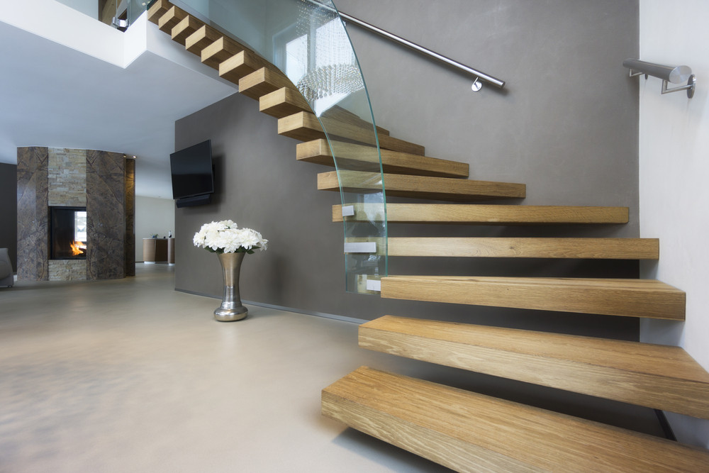 Eleganckie drewniane schody