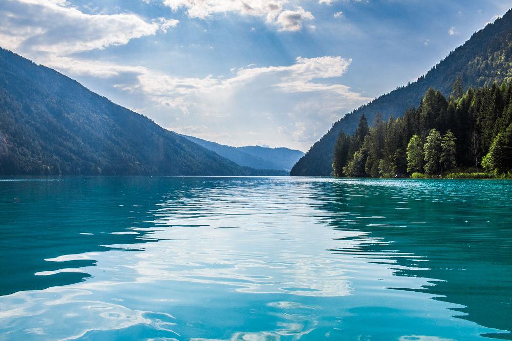 Jezioro Weissensee, Alpy Gailtalskie, Austria