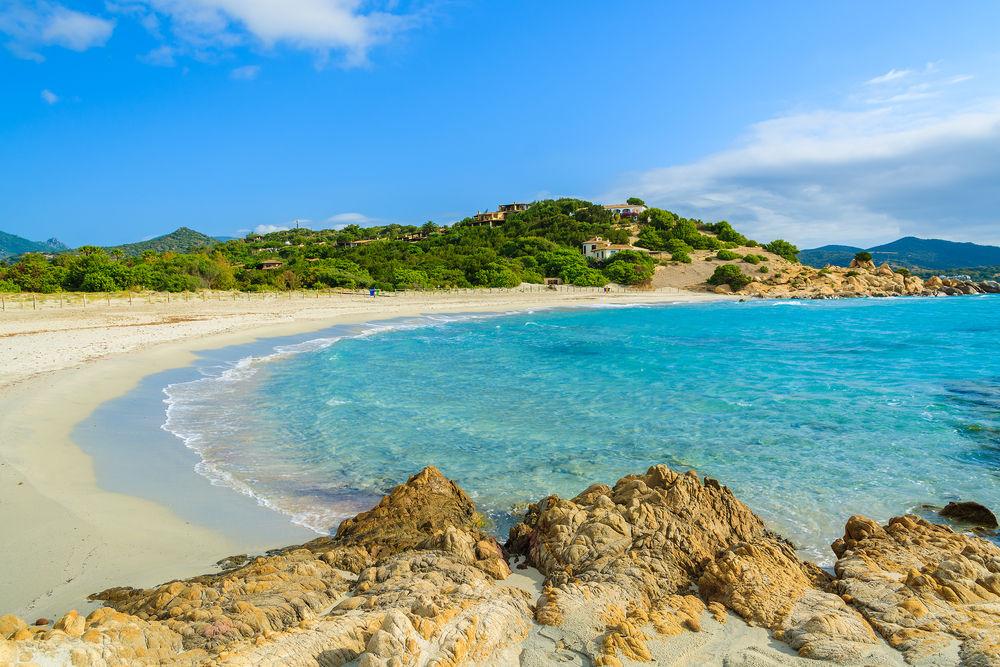 Plaża Villasimius, Cagliari, Sardynia, Włochy