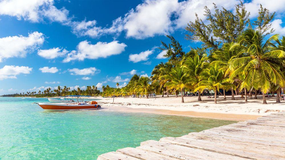 Karaibska plaża na wyspie Saona