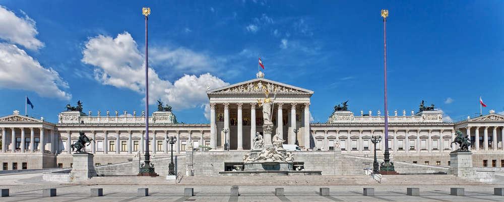 Budynek parlamentu w Wiedniu, Austria