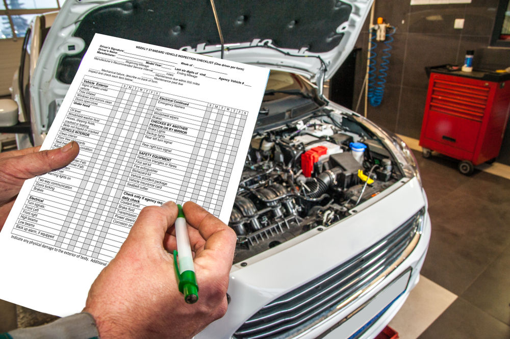 Formularz wypełniany podczas przeglądu technicznego